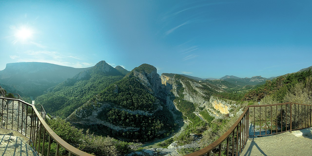 Panorama from le Point Sublime